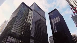 downtown toronto financial district office buildings hd stock video clip build office video