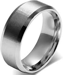Men's Rings - Stainless Steel / Rings / Men: Jewellery - Amazon.co.uk