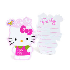 hello kitty invitation cards jingvitations hello kitty foldable hello kitty invitation templates