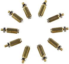 ILS - 10SETS DIY 11MM Hex Brass Cylinder + Screw ... - Amazon.com