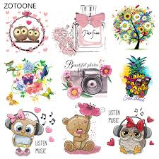<b>ZOTOONE Cartoon</b> Animal Iron on Transfer Cute Patches for ...