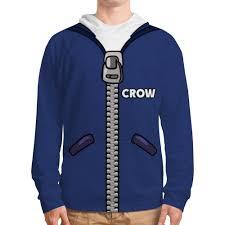<b>Толстовка с полной</b> запечаткой Brawl Stars CROW #3159532 от ...