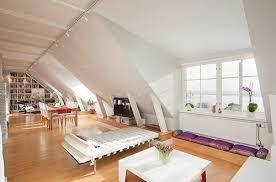 modern white furniture attic room neutral decor design ideas attic furniture ideas