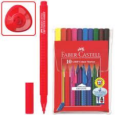 "<b>Фломастеры FABER-CASTELL</b> ""<b>Grip</b>"", <b>10</b> цветов, трехгранные ..."