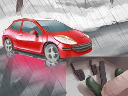 how to drive safely in the rain pictures wikihow