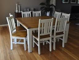 dining room tables chairs square: white  seater square dining table amp chairs rustic shabby chic furniture setting home pinterest dining table chairs shabby and chairs