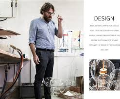 KINLAMS Creative Clear Glass <b>Bubble</b> Ball Post <b>Modern</b> Led ...