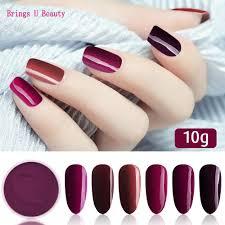 <b>10g</b>/<b>box Very Fine</b> 6 In 1 Beauty Dark Purple Series Nail Dipping ...