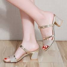 Fashion Lady's Fashion Fish-mouth <b>Thick</b>-<b>heel Sandals</b> One Shoe ...
