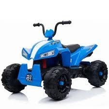 Детский <b>квадроцикл RiverToys</b> T555TT белый, синий, красный ...