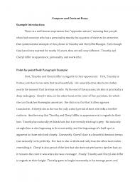 cover letter template for comparison and contrast essay example  gallery of essay comparison and contrast examples