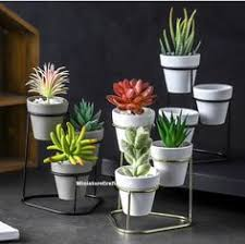 <b>4Pcs</b>/Set Flower Pot <b>Nordic</b> Style Mandala Pattern Ceramic Tabletop ...