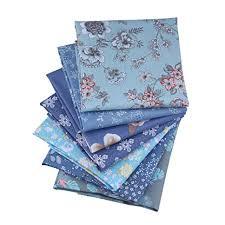 <b>ShuanShuo</b> 7PCS <b>Flower</b> Cotton Fabric Quilting Patchwork Fabric ...