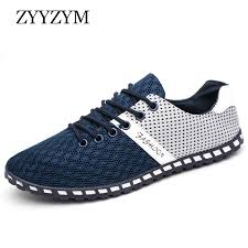 <b>ZYYZYM Men</b> Shoes Summer Breathable Air <b>Mesh</b> Shoes <b>Men</b> Lace ...
