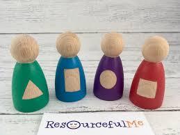<b>Toys</b> & Games <b>Pretend</b> Play 12 colorful peg dolls, 72 <b>pcs wooden</b> ...