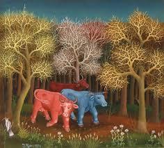 Cows in <b>the woods</b> - Ivan Generalic — Google Arts & Culture