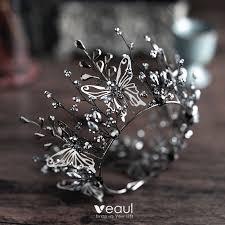 <b>Vintage</b> / <b>Retro Baroque</b> Black Bridal Jewelry <b>2019</b> Metal Butterfly ...