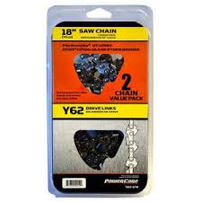 Power Care 18 in. Y62 <b>Semi Chisel Chainsaw Chain</b> (2-Pack)-CL ...