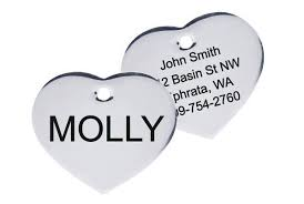 Heart <b>Shape</b> Pet ID Tag in <b>Stainless Steel</b>