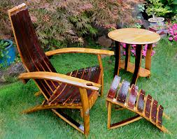 used wine barrel furniture the wine imparts a rich patina and is perfect for making artifacts arched napa valley wine barrel table