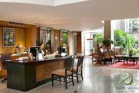 silom serene hotel reception desk boutique reception counter