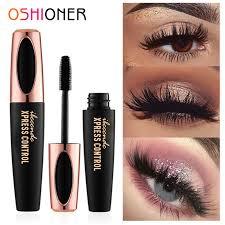 OSHIONER 4D Silk <b>Fiber Eyelashes</b> Lengthening <b>Mascara</b> ...