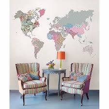WPK2128 - Boho <b>World</b> Map Super <b>Wall Art</b> Kit- by WallPops
