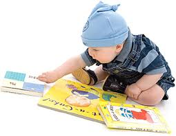 Image result for baby with books images