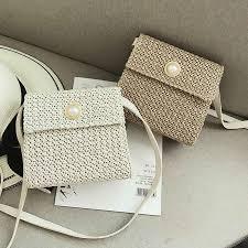 New straw bag women's <b>fashion</b> shoulder bag <b>hand woven rattan</b> ...