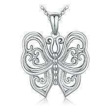 <b>JewelryPalace</b> Vintage Filigree Hollow <b>Butterfly</b> Pendant <b>925</b> ...