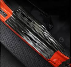 <b>lsrtw2017</b> titanium black stainless steel <b>car</b> door threshold sill for ...