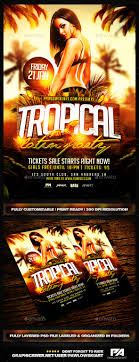 tropical latin party flyer template flyers party events and tropical latin party flyer template clubs parties events