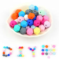 <b>TYRY</b>.<b>HU</b> 100Pcs/Lot <b>14mm</b> Hexagon Shaped <b>Silicone</b> Beads ...