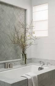 bathroom features gray shaker vanity: gray arabesque bathroom tiles transitional bathroom sophisticated bathroom features a marble