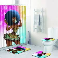 2019 Sexy Skirt Girl Bathroom Curtain Waterproof Fabric African ...