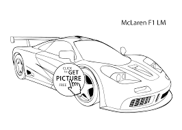 Small Picture Super car McLaren F1 LM coloring page cool car printable free