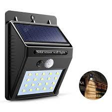 5W <b>Solar</b> Light Charging 20LED Lamp Black 1pc <b>Solar</b> Wall Lights ...