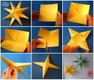 Как сделать звёздочку из бумаги оригами