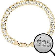 Harlembling Men's Cuban Link Bracelet 14k Gold Over <b>Solid 925</b> ...