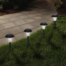 solar patio light pictures patiofurn pure garden solar powered black accent lights set of