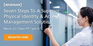 webinar seven steps to a superior piam solution corporate physical security jobs
