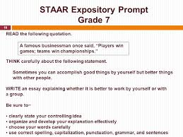 how to write a good expository essay for staar   essay topicsstaar expository prompt grade  read the following quotation think carefully about statement