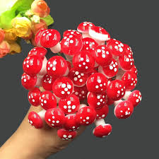 <b>10Pcs</b>/Set <b>Mini</b> Mushroom Miniatures Artificial Garden Fairy Moss ...