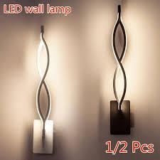 <b>1</b>/2 <b>Pcs Home Decor</b> Wall Lamp 16W LED Light Indoor Wall Sconce ...