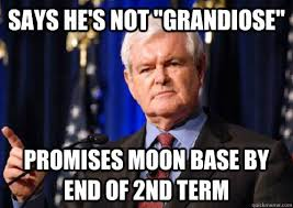 "Says he's not ""Grandiose"" Promises Moon Base by end of 2nd Term ... via Relatably.com"