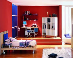 red white color paint bedroom modern colorful white wall paint decoration blue and red decor