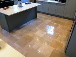 limestone tiles kitchen: filthy limestone kitchen in icklesham after cleaning