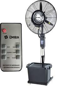 Напольный <b>вентилятор Delta DL-024H-RC</b>, черный с пультом