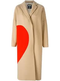 <b>Msgm Пальто</b> С Контрастной Аппликацией - O' - Farfetch.com ...
