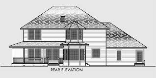 Traditional House Plan Features Wrap Around Porch  Kitchen IslandHouse front drawing elevation view for Traditional House Plan features wrap around porch  Kitchen